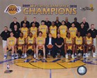2009-10 Los Angeles Lakers Team Photo with Western Conference Champions Overlay art print
