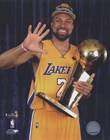 Derek Fisher with Championship Trophy in Studio (#28) art print